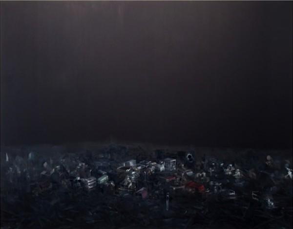 Guillermo Kuitca, Doble eclipse, 2013
