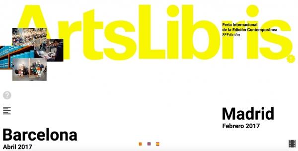 Pantallazo de la web de ArtLibris | ArtsLibris participa por segundo año consecutivo en ARCOmadrid