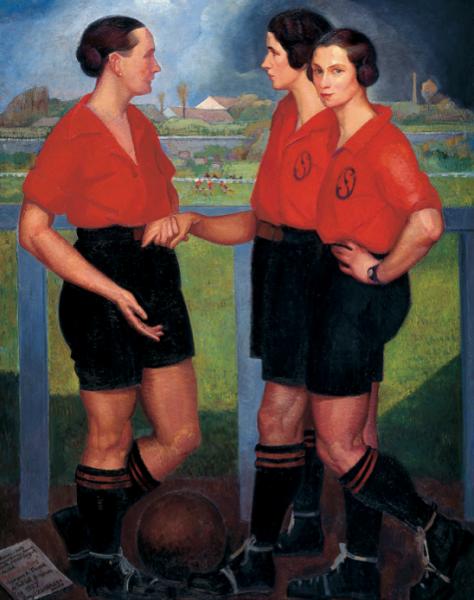 Ángel Zárraga, Las futbolistas, 1922 | Luces y sombras del 50 aniversario del MAM