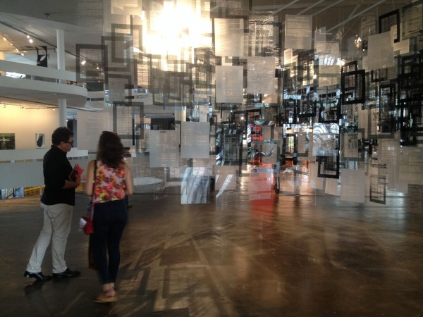 Voluspa Jarpa, Historias de aprendizaje (2014), vista instalación Bienal de Sao Paulo Cortesía Paco Barragán
