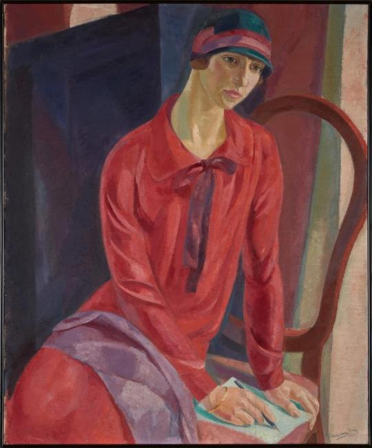 Daniel Vázquez Díaz_Mujer de rojo (1931) Cortesía de la Fundación Botín