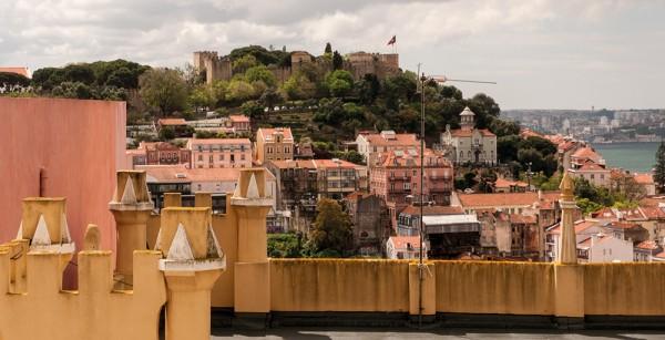 Vista del barrio lisboeta de Graça, donde está situado HANGAR