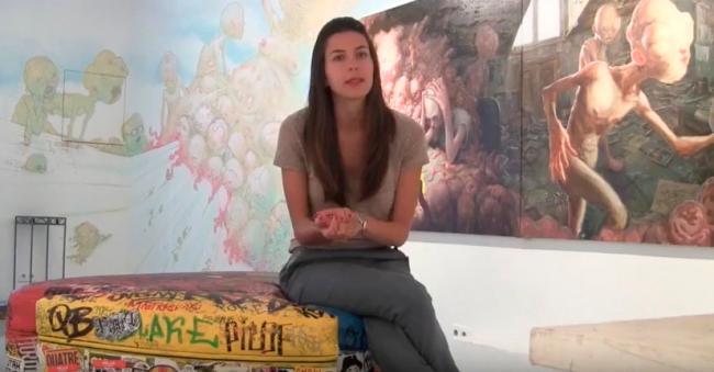 Fotograma de entrevista a Anna Dimitrova | 10 artistas urbanos españoles a tener en cuenta para Anna Dimitrova (Montana Gallery)