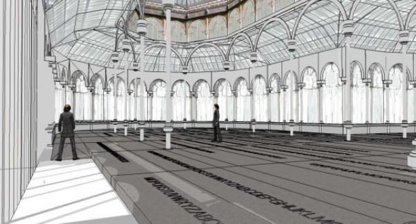 Boceto del proyecto \'Palimpsesto\' para el Palacio de Cristal. Cortesía de El País y el Museo Reina Sofía