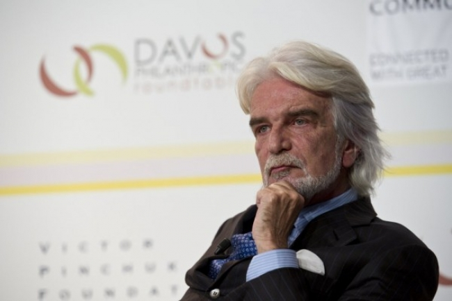 Bernardo Paz en una intervención en el 7º mesa redonda filantrópica, organizada por la Fundación Victor Pinchuk en Davos