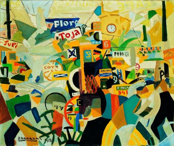 Rafael Barradas, Calle de Barcelona, 1918. Asociación Colección Arte Contemporáneo, Museo Patio Herreriano | 12 interesantes muestras en países de fuera del arco iberoamericano