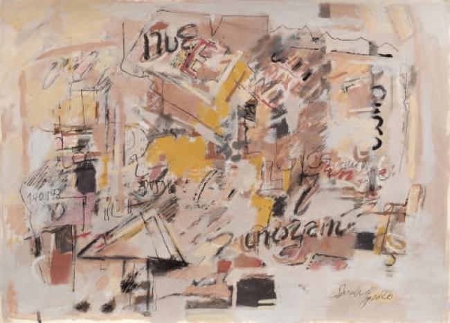 Sarah Grilo. Untitled, 1998. Mixed media on paper. 50,6 x 70 cm. Cortesía de Galerie Lelong & Co. | La galería Lelong & Co. representará el Estate de Sarah Grilo