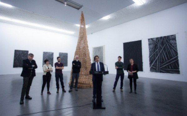 Presentación de la exposición en el TEA