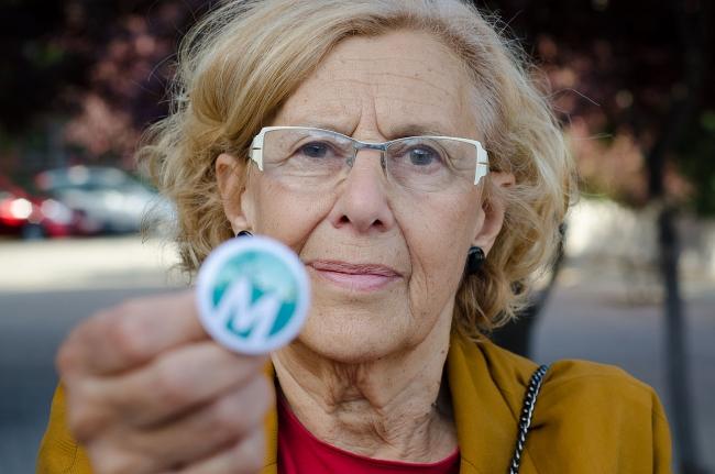 Manuela Carmena, Alcaldesa de Madrid. Foto extraída de su perfil en Wikipedia