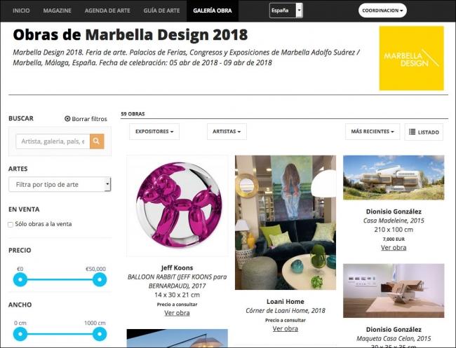 """""""Preview"""" de Marbella Design en ARTEINFORMADO"""