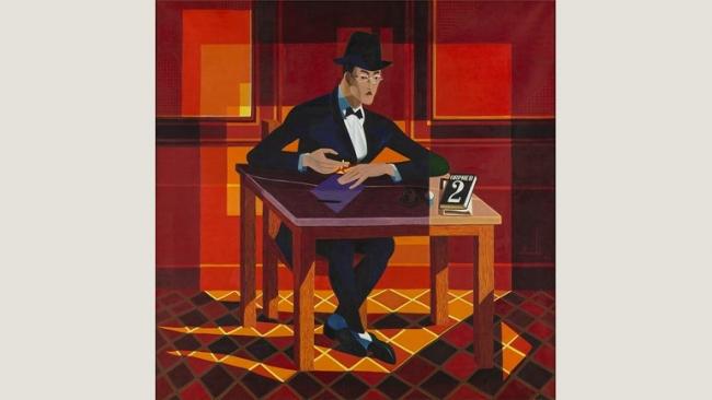 José de Almada Negreiros, Retrato de Fernando Pessoa, 1964. Museu Calouste Gulbenkian - Coleção Moderna. © Almada Negreiros, VEGAP, Madrid, 2017. Cortesía del MNCARS