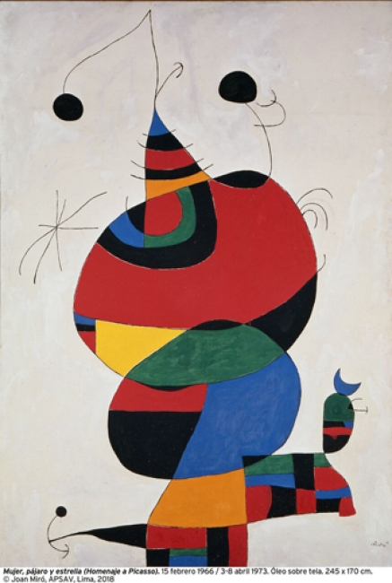 Mujer, pájaro y estrella (Joan Miró). Cortesía del MALI | 12 exposiciones en Perú con las que dar la bienvenida a ArtLima 2018
