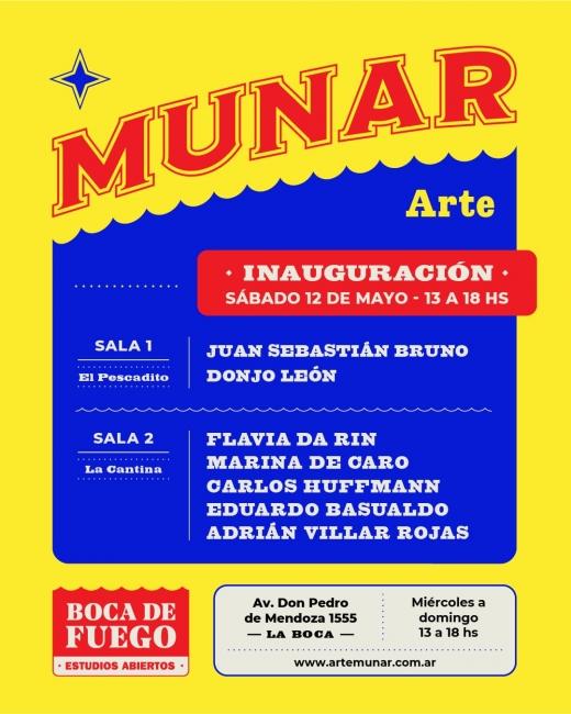 Cartel de la inauguración de MUNAR | Ir a la ficha de 'MUNAR'. Galería de arte, Centro de arte, Centro cultural