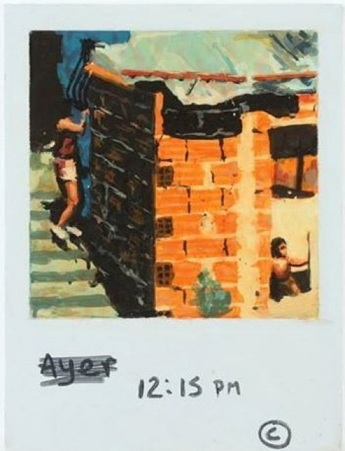 Pintura polaroid, 2015 | Ir a la ficha del Artista 'Rafael Arteaga'