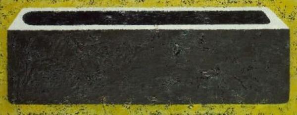 Escultura n°-6,  2009 oleo sobre lienzo 58 x 150 cm