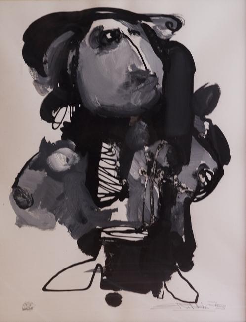 retrato sin título | Ir a la ficha del Artista 'Eduardo Roldán'