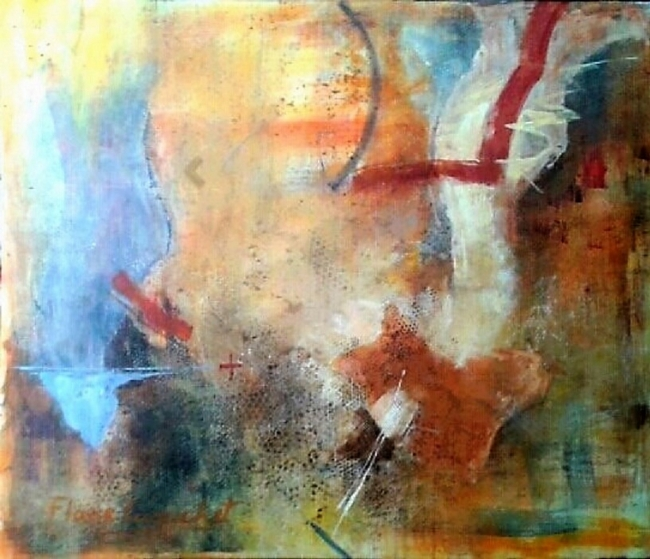 Summer, acrílico sobre lienzo 120 x 100cm