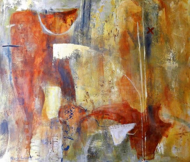 Love is in the air, acrílico sobre lienzo 70 x 60cm