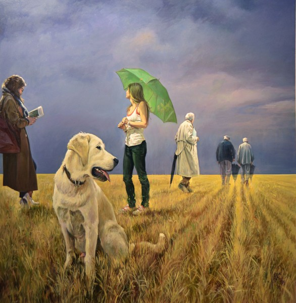 El perro cuidando de su rebaño