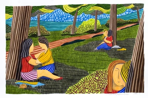 El rincón de las parejas en el parque