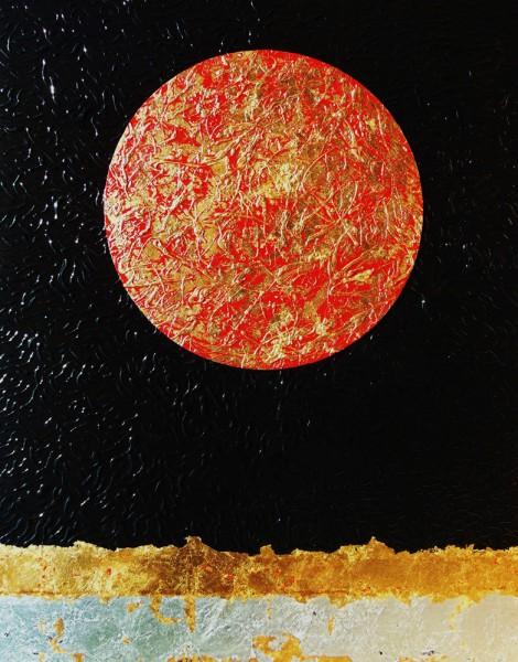 Nocturno I [acrílico y pan de oro sobre lienzo] 2015 (150x114) | Ir a la ficha del Artista 'Requena Nozal'