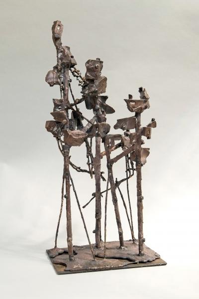 Ciudad aérea - bronce- 17 x 23 x 52 cm