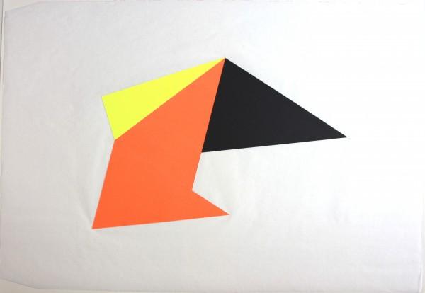 Anto Rabzas serie Iceberg. Polygon collage. 50x70 cm.