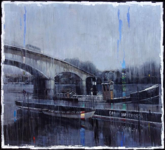 PIntando bajo la lluvia | Ir a la ficha del Artista 'Edgardo Contreras de la Cruz'