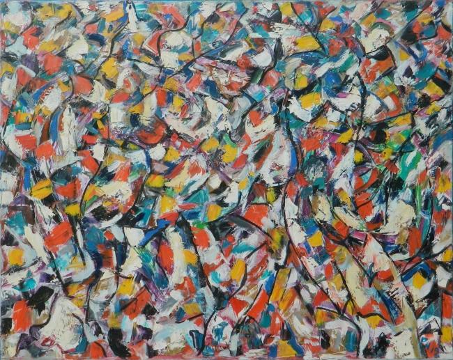 Henri Philippe - Manifestación - 80 x 100 cm - Óleo sobre lienzo