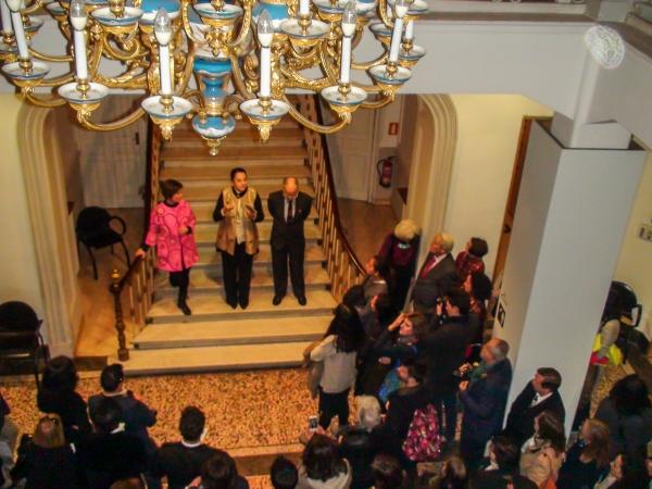 Expo Orfebrería y Joyería en el Museo Nac de Art Decorativo Madrid - Inauguración | Ir a la ficha del Artista 'Lucía Sagalá'
