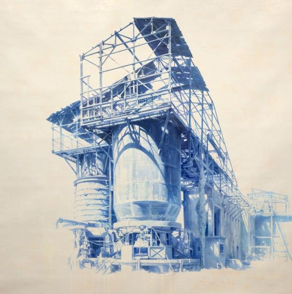 Torre X 150x150cm oleo sobre lienzo