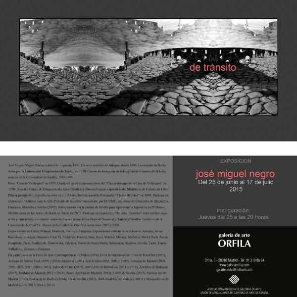 Exposición en galería Orfila. 2015 | Ir a la ficha del Artista, Gestor cultural 'José Miguel Negro Macho'