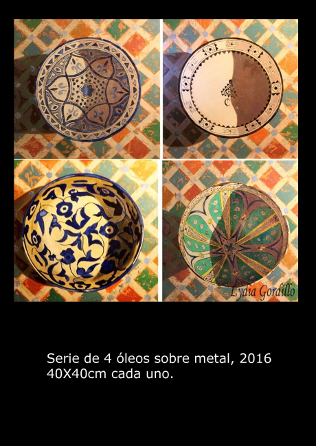 "Óleo sobre metal. Serie"" 4 cerámica"" | Ir a la ficha del Artista 'Lydia Gordillo'"