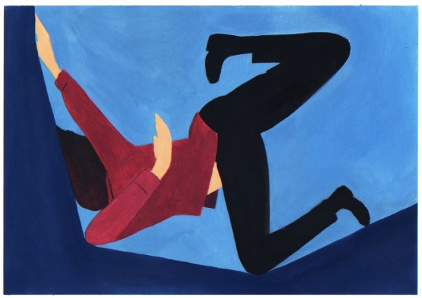 Sín título  óleo sobre papel, 17.9 x 25.4 cm, 2012. Jonathan Miralda