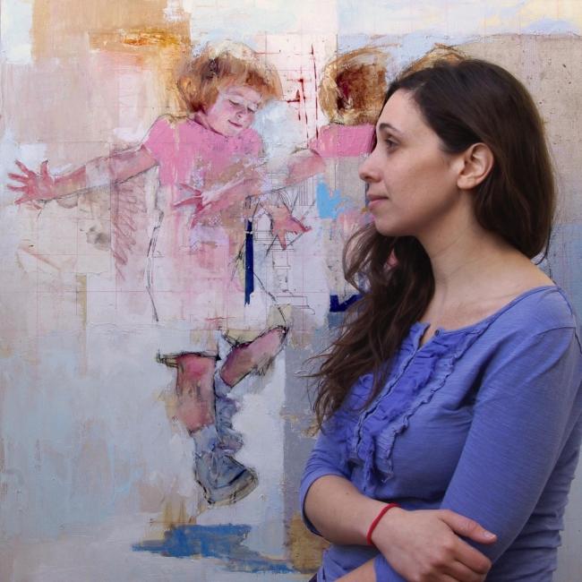 """foto díptico """"Juego de niños"""", Galería Ángel Almeida"""