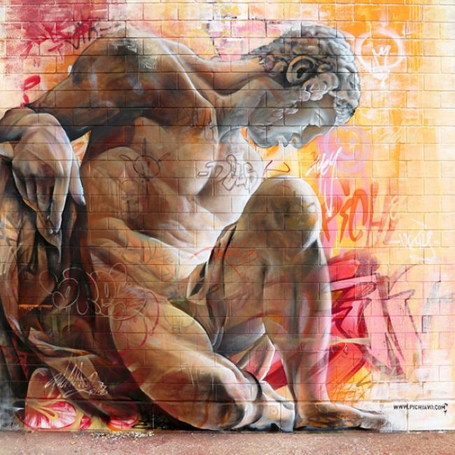 Graffiti street art Vicar. Cortesía de Pichi&Avo