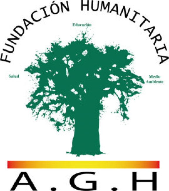 Logo de la FUNDACIÓN HUMANITARIA A.G.H. que promueve Anna Gamazo