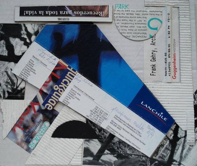 Reconsidering to return Argentina. Collage. 23x27cm