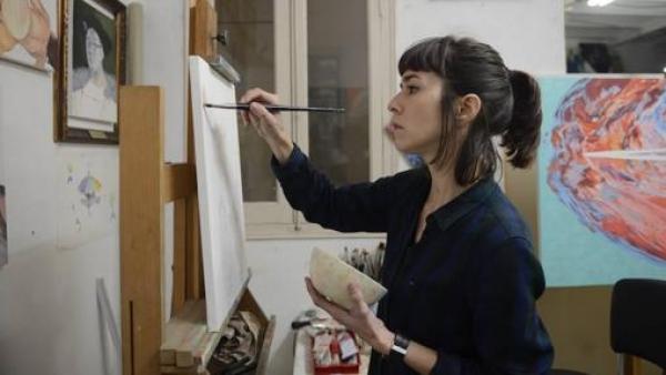 Carmen G. Castro en su estudio