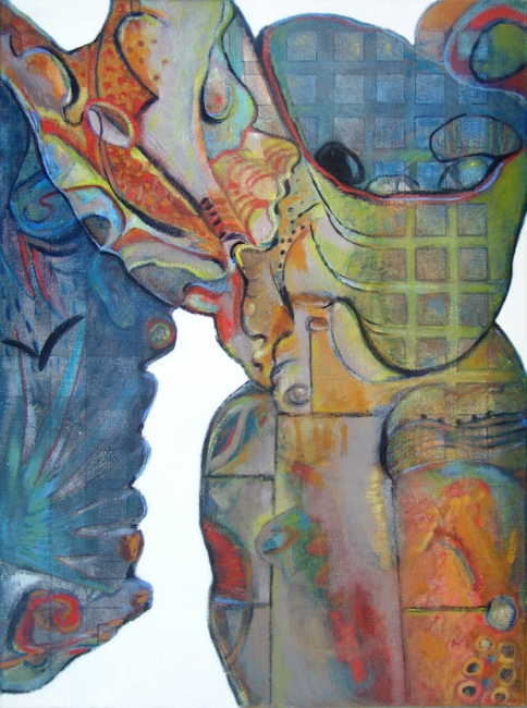 Cabo Engaño, Serie Recortes: de las islas, 2005, óleo/tela,80x60cm