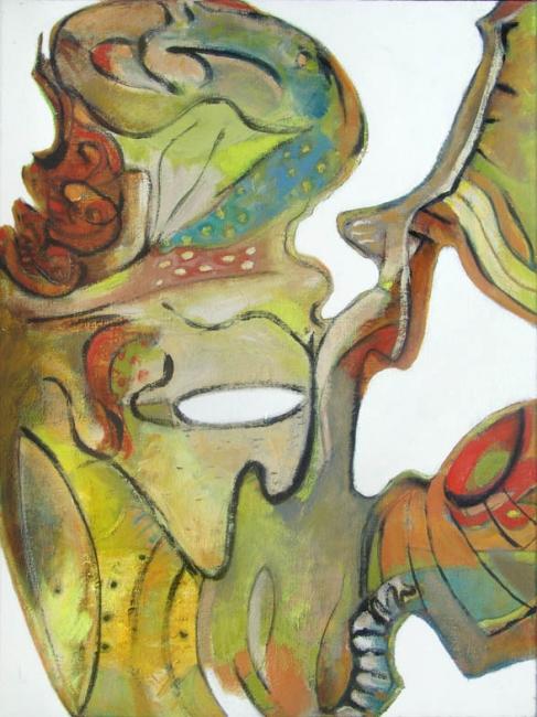 Bahía Perla, Serie Recortes: de las islas, 2005, óleo/tela,80x60cm