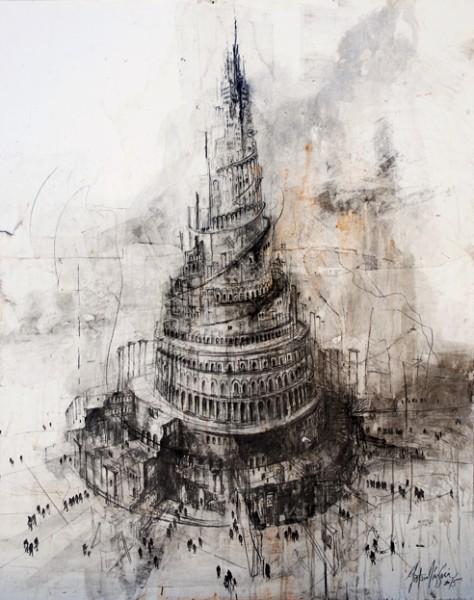 "De la serie \""Huérfanos de Babel\"" / 160 x 140 cm / 2015"