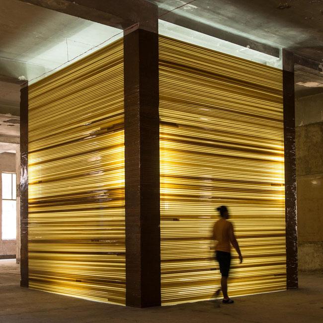 Ambar, 2015 Site-specific installation. Cortesía del artista