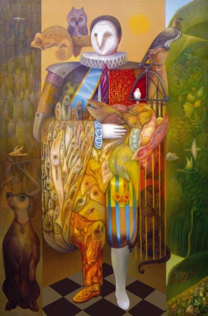 Follente, The Huntes, óleo sobre lienzo, 250x175 cm. – Cortesía del artista
