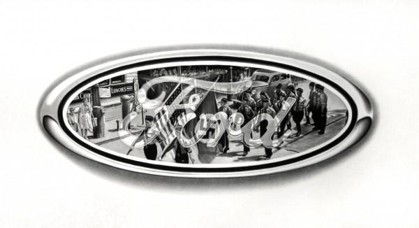 Ford & Co., 2014, lápiz compuesto sobre papel, 60 x 100 cm